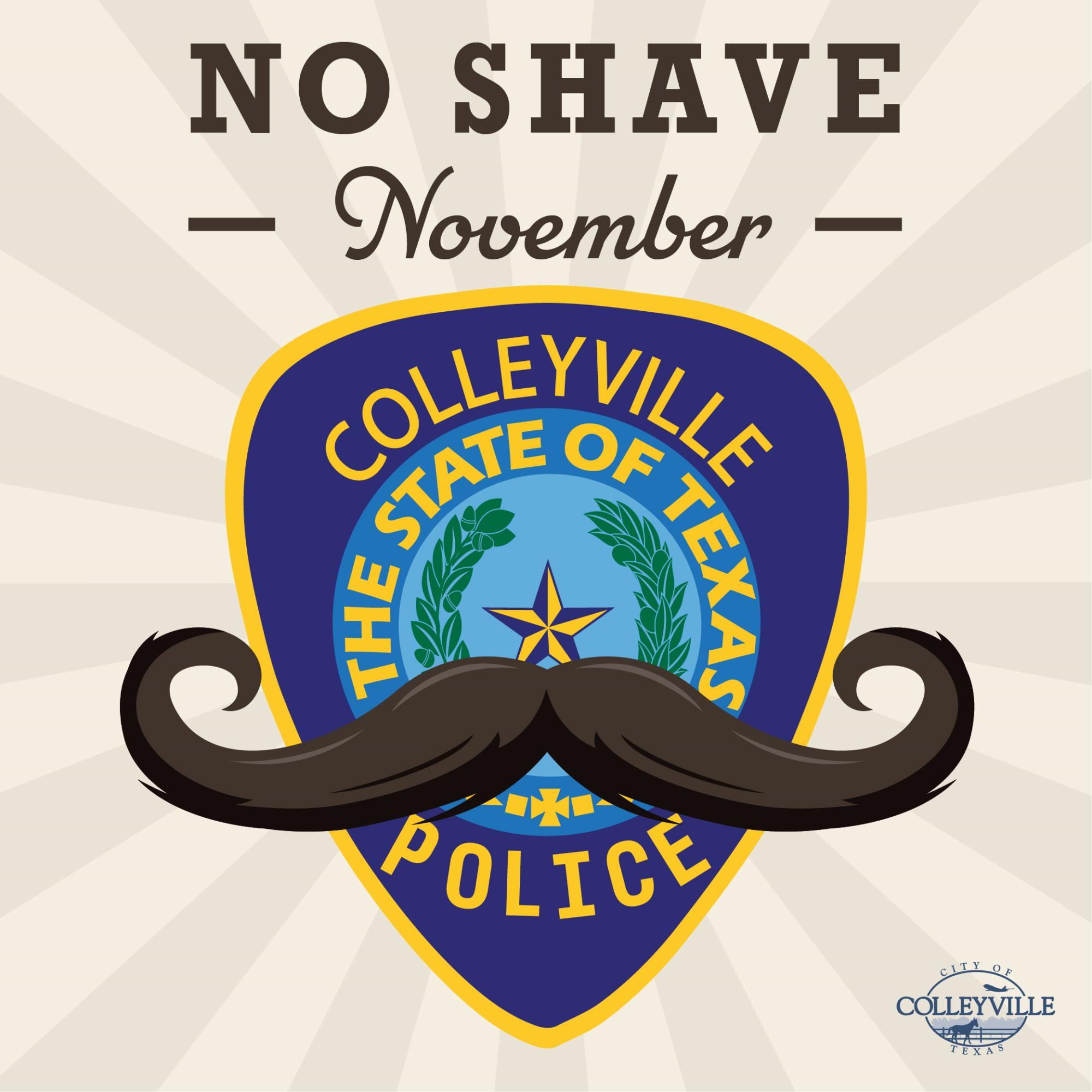 Colleyville PD Participates in No Shave November